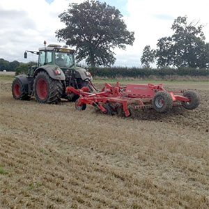 Stubble cultivating